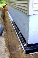 Basement -Exterior basement drainage system - waterproof and insulated walls