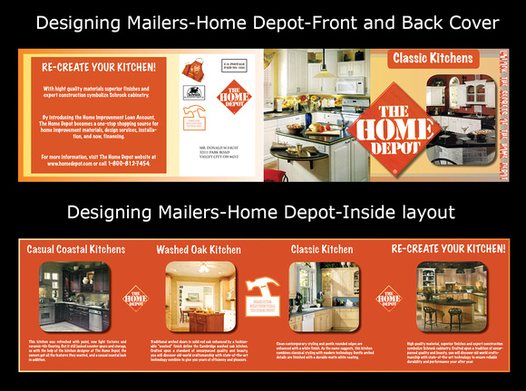 Designing mailers using: Photoshop, Illustrator and InDesign.