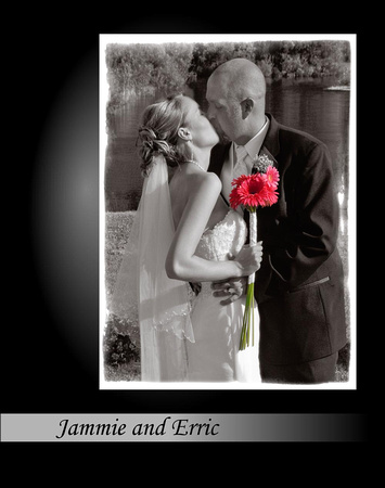 Jammie and Erric -Front cover -NEW- FLUSH MOUNT ALBUM - NOW AVAILABLE WITH EVERY WEDDING PACKAGES.