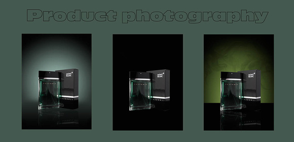 Product photography -  photographing products in the studio using professional studio light.