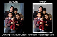Retouching,removing objects and changing backgrounds using: Adobe Photoshop